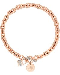 Lipsy - Pave Crystal Padlock Chain Necklace - Lyst