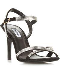 1ed47e12ebe Dune - Medalenna Cross Strap Dressy Sandals - Lyst