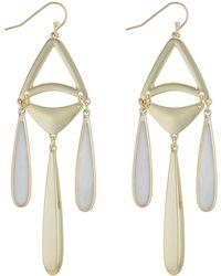 J By Jasper Conran - Designer Shell Droplet Earrings - Lyst