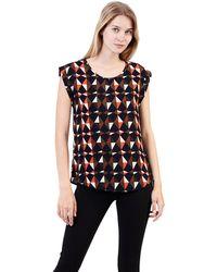 Izabel London - Multi-coloured Abstract Print Oversize T-shirt - Lyst