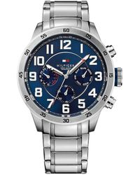 Tommy Hilfiger - Men's Chronograph Stainless Steel Bracelet Watch 1791053 - Lyst