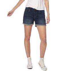 Levi's - Dark Blue Vintage Wash Denim Shorts - Lyst