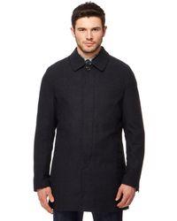 Ben Sherman - Dark Grey Checked Coat With Wool - Lyst