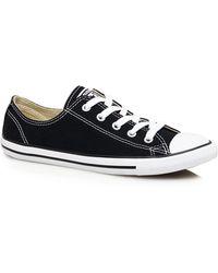 51b0b726829b Converse - Black Canvas  dainty  Trainers - Lyst