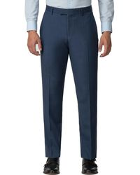 Racing Green - Bright Blue Pick And Pick Athletic Fit Trousers - Lyst