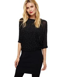 a25d3ac14ab Phase Eight - Navy Becca Scattered Stud Knitted Dress - Lyst
