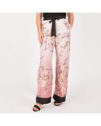 Anna Field - Rose Floral Wide Legged Trousers - Lyst