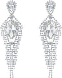 Red Herring - Diamante Statement Earrings - Lyst