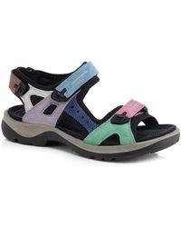 Ecco - Multi-coloured Nubuck 'off Road' Sandals - Lyst