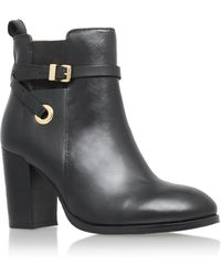 Carvela Kurt Geiger - Black 'stacey' High Heel Ankle Boot With Ankle Strap - Lyst