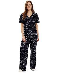 Phase Eight - Blue Laila Spot Print Jumpsuit - Lyst