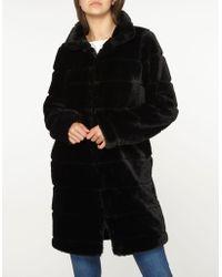Dorothy Perkins - Tall Black Lined Faux Fur Coat - Lyst