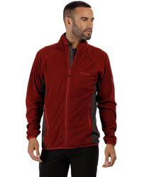 Regatta - Red 'mons' Full Zip Fleece - Lyst