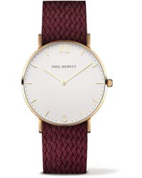 PAUL HEWITT - Ladies Red 'sailor Line' Analogue Watch Ph-sa-r-sm-w-19s - Lyst