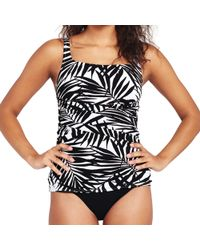 Lands' End - Multi Shape And Enhance Palm Print Tankini Top - Lyst