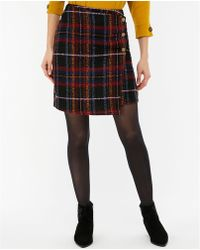 Monsoon - Black 'maude' Check Skirt - Lyst
