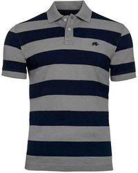 Raging Bull - Big And Tall Navy And Grey Large Hoop Polo Shirt - Lyst