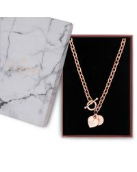 Lipsy - Heart Charm Gift Necklace - Lyst