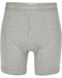 Calvin Klein - Grey Button Boxer Shorts - Lyst