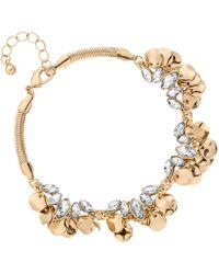 Matthew Williamson - Gold Crystal Coin Cluster Bracelet - Lyst