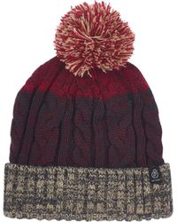 c75afeae438 Tommy Hilfiger Rugby Stripe Bobble Beanie in Green for Men - Lyst