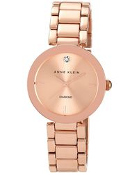 Anne Klein - Ladies Rose Gold Stianless Steel Watch Ak/n1362rgrg - Lyst