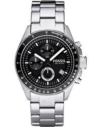 Fossil - Men's Silver Chronograph Dial Bracelet Watch Ch2600ie - Lyst