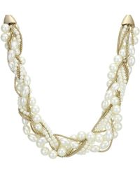 J By Jasper Conran - Designer Cream Pearl Twist Necklace - Lyst