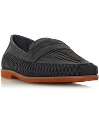 a461f07b8ad Dune Brighton Rock Leather Loafers in Brown for Men - Lyst