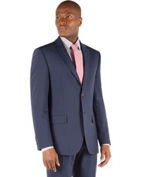 Racing Green - Blue Panama Tailored Fit 2 Button Suit Jacket. - Lyst