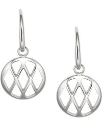 Fossil - Ladies Stainless Steel Drop Earrings - Lyst