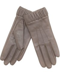 J By Jasper Conran - Taupe Ruched Cuff Leather Gloves - Lyst