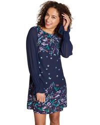 3bf5dcc4f8363 Ted Baker · Yumi  - Navy Mirrored  paulina  Floral Print Tunic Dress ...