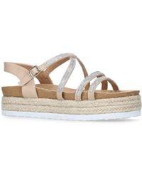 Miss Kg - Nude 'ramone' Flatform Sandals - Lyst