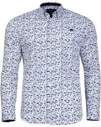 Raging Bull - White Micro Floral Print Shirt - Lyst