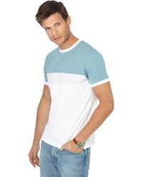 Red Herring - Turquoise Striped Slim Fit T-shirt - Lyst