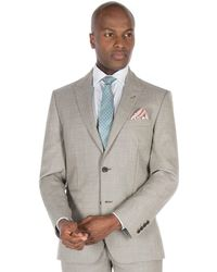 1ccb6583af6b J By Jasper Conran - Champagne Textured Pure Wool Tailored Fit Suit Jacket  - Lyst