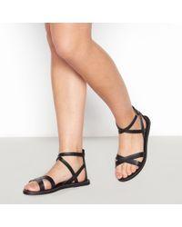 440917b02 River Island Black Strappy Gladiator Sandals in Black - Lyst