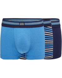 Jockey - Pack Of Three Assorted Plain And Striped Trunks - Lyst