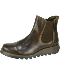 Fly London - Dark Brown 'salv' Womens Casual Ankle Boots - Lyst