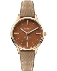 Barbour - Ladies Brown 'emberton' Leather Strap Watch - Lyst