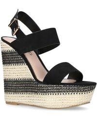 53686e03ed5 Miss Kg - Black  Ziggy  Mid Heel Wedge Sandals - Lyst