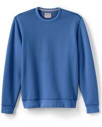 a86708c1 Lands' End Serious Sweats Crew Neck Sweatshirt in Blue for Men - Lyst
