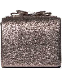 Dorothy Perkins - Bronze Bow Boxy Clutch - Lyst