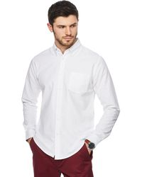 Racing Green - Big And Tall White Oxford Tailored Fit Shirt - Lyst