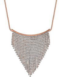 Red Herring - Crystal Diamante Shower Necklace - Lyst