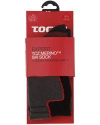 Tog 24 - Black Expert Merino/diamond Dry Ski Sock - Lyst