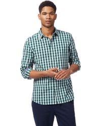 Racing Green - Green Gingham Print Shirt - Lyst