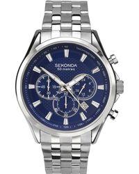 Sekonda - Men's Silver Chronograph Watch 1393.28 - Lyst