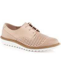 Ecco - Pink Leather 'touch' Brogues - Lyst